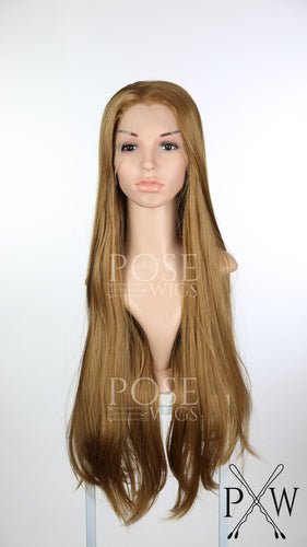 Light Brown / Dark Strawberry Blonde Long Straight Lace Front Wig - Princess Series LP151