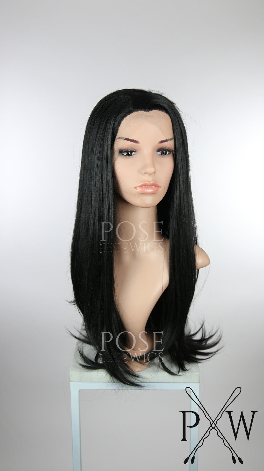 Black Long Straight Lace Front Wig - Princess Series LP162