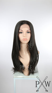 Dark Brown Long Straight Lace Front Wig - Lady Series LLTWI10
