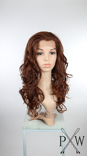 Red Long Curly Lace Front Wig - Lady Series LLSOF90