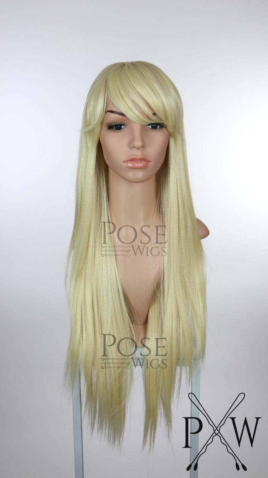 Blonde Long Straight with Bangs Fashion Wig HSNAS44