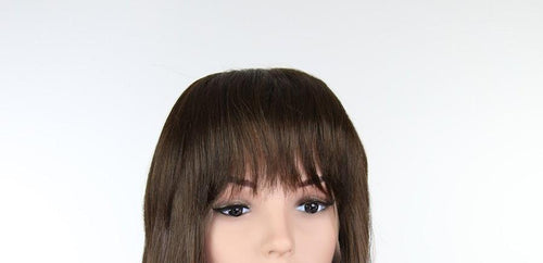 Qi'Ra Cosplay Wig Brown Clip-in 100% Human Hair Bangs Hairpiece HHPF700L10 Qira costume star wars
