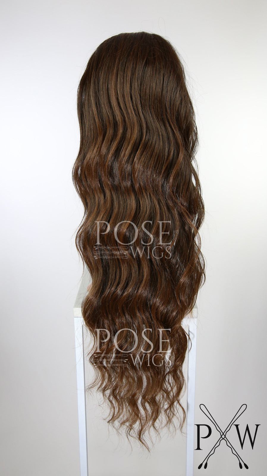 Red Brown Ombre Long Curly Lace Front Wig Lady Series