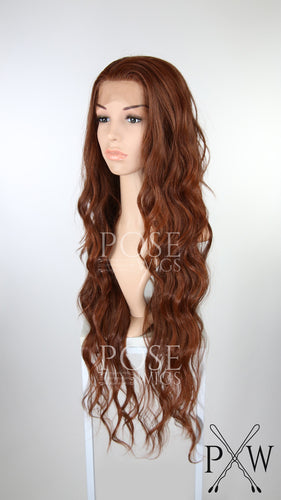 Red Long Curly Lace Front Wig - Lady Series LLMON90