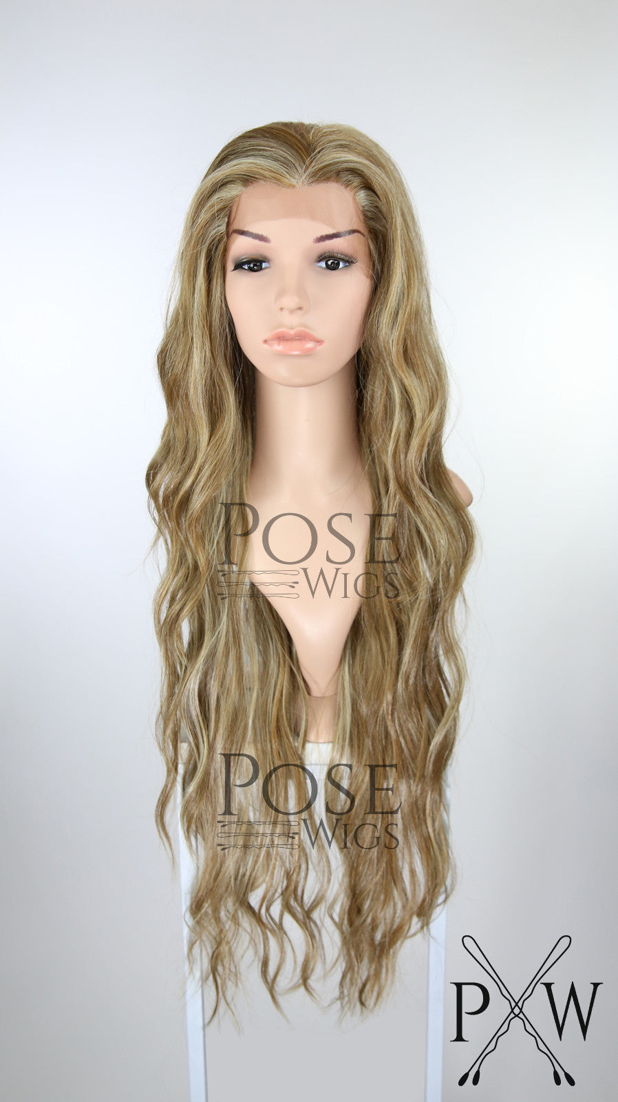 Brown with Blonde Highlights Long Curly Lace Front Wig - Lady Series LLMON26