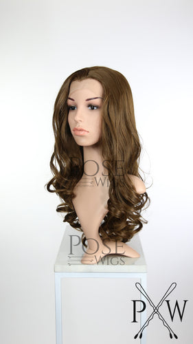 Brown Long Curly Lace Front Wig - Princess Series LP154
