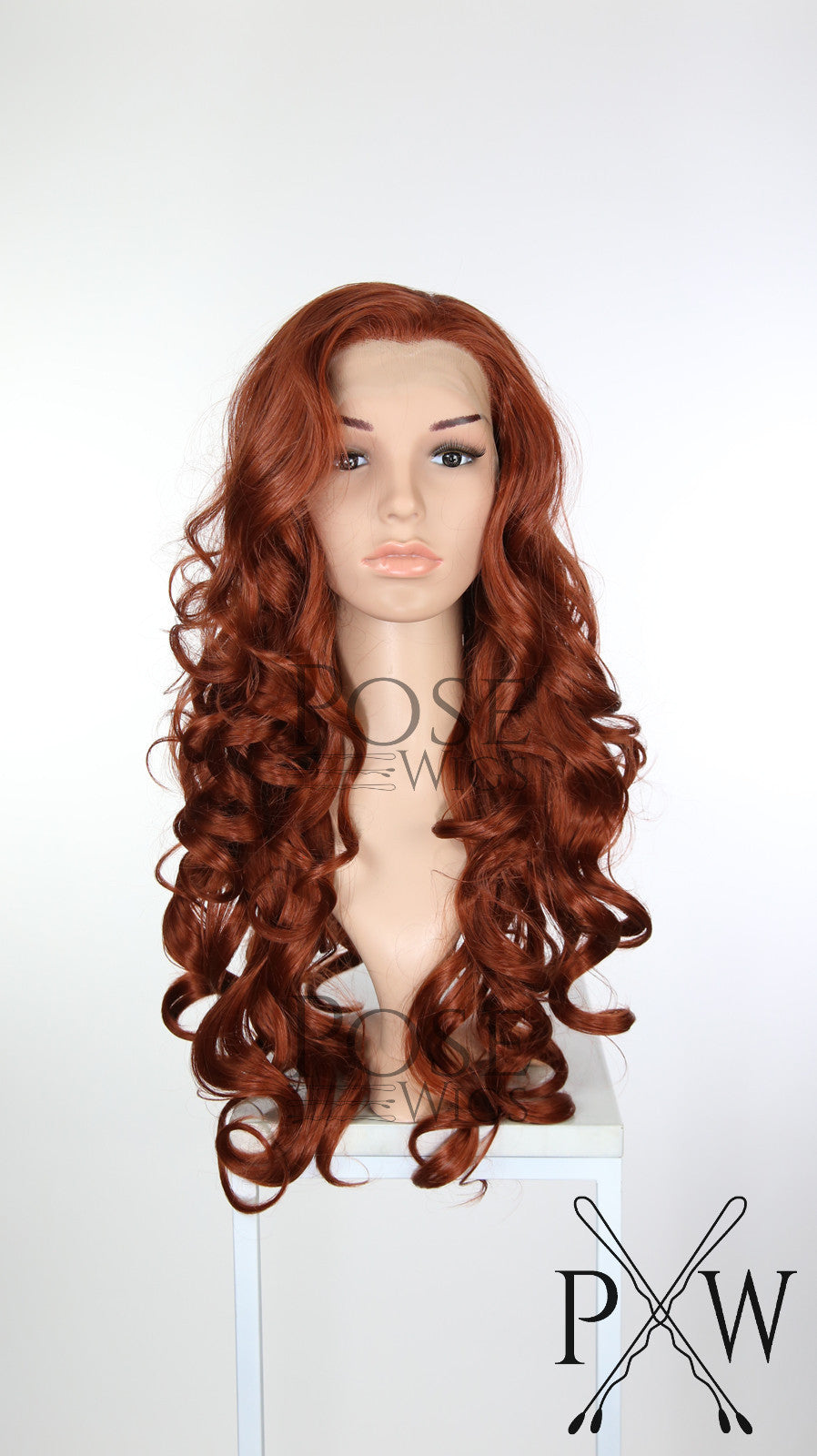 Red Long Curly Lace Front Wig - Princess Series LP112