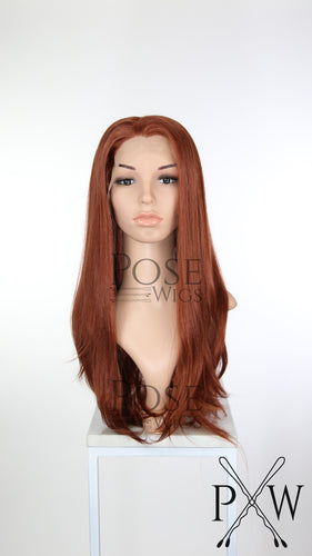 Red Long Straight Lace Front Wig - Princess Series LP160
