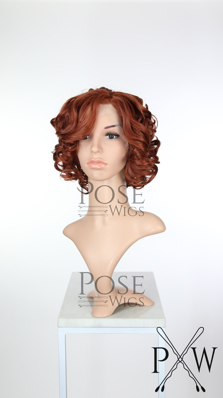 Red Short Curly Bob Lace Front Wig - Princess