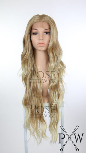 Strawberry Blonde Ombre Long Curly Lace Front Wig - Lady Series LLMON91