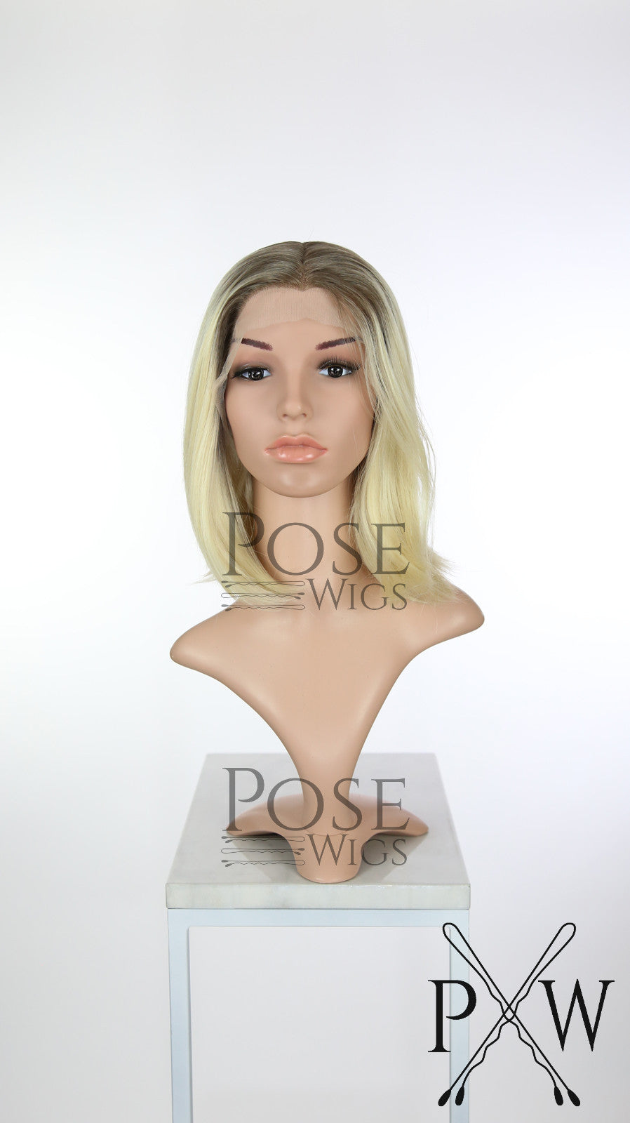 Blonde Ombre Medium Length Wavy Lace Front Wig - Princess Series LP166
