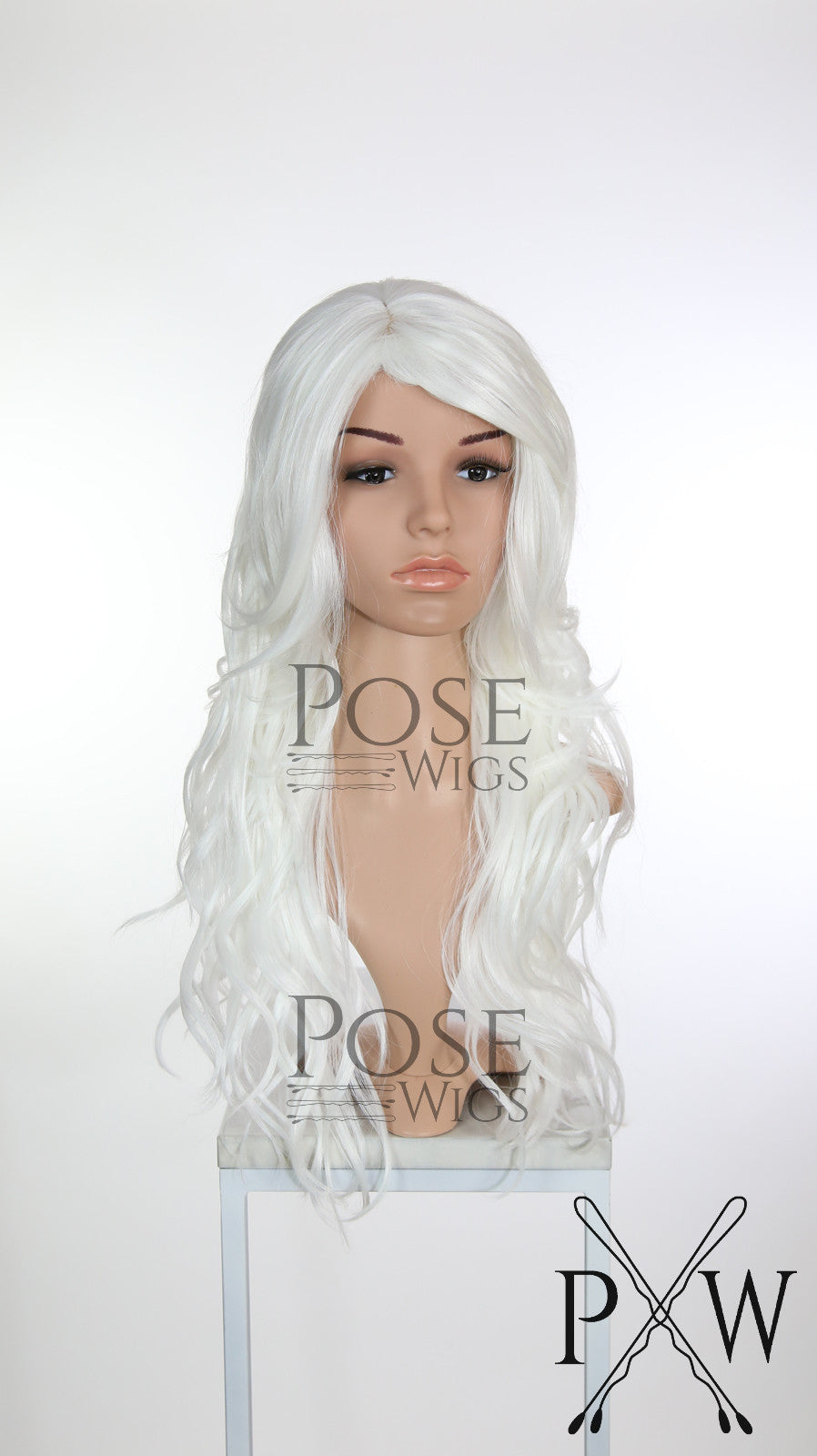 White Long Wavy with Bangs Fashion Wig HSCAL69