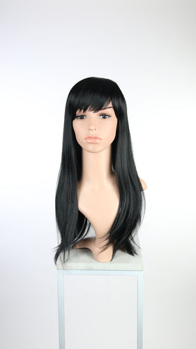 Black Long Straight with Bangs Fashion Wig HSOAS1