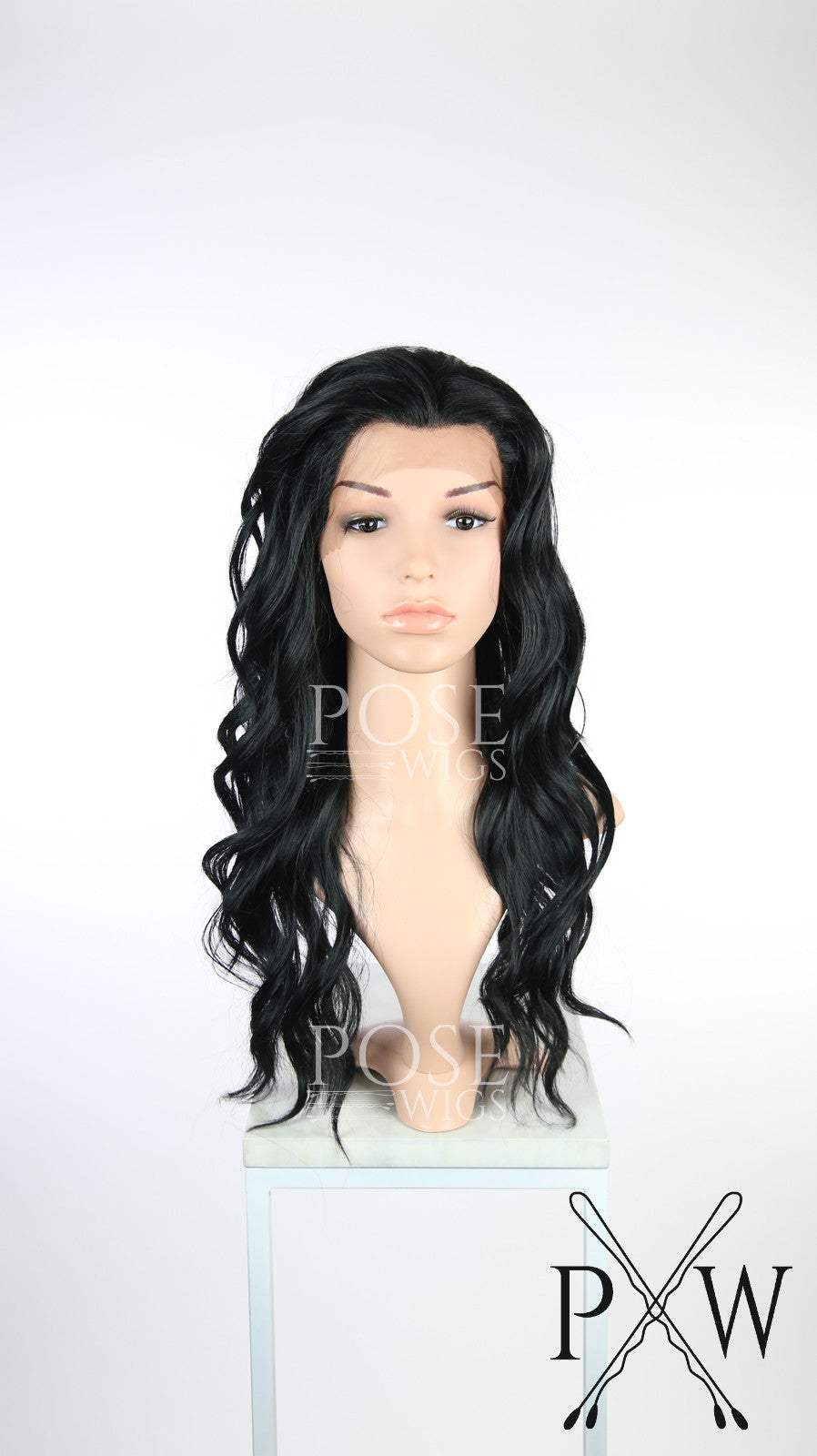 Black Long Wavy Lace Front Wig - Lady Series LLYVO1