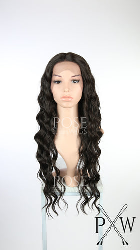 Dark Brown Long Curly Lace Front Wig - Duchess Series LDNIX10
