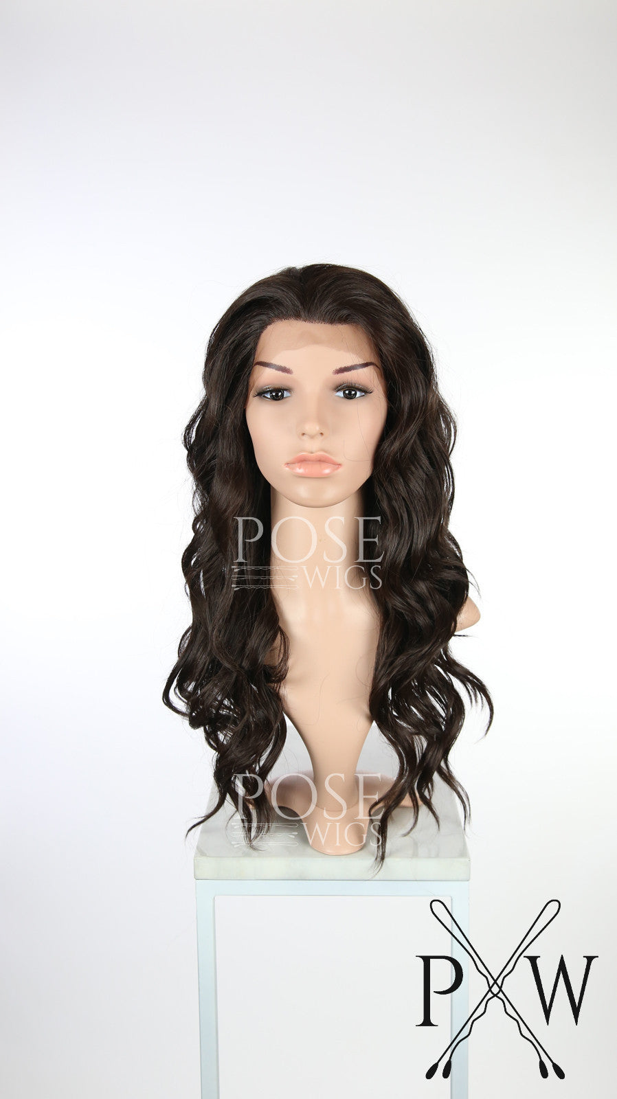 Dark Brown Long Wavy Lace Front Wig - Lady Series LLYVO10