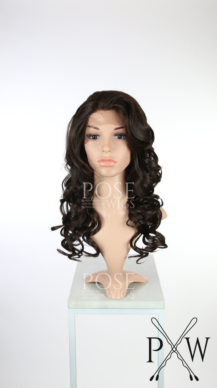 Dark Brown Long Curly Lace Front Wig - Lady Series LLSOF10
