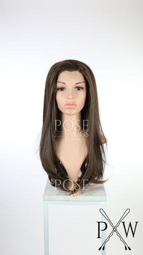 Brown Long Straight Lace Front Wig - Princess Series LP178