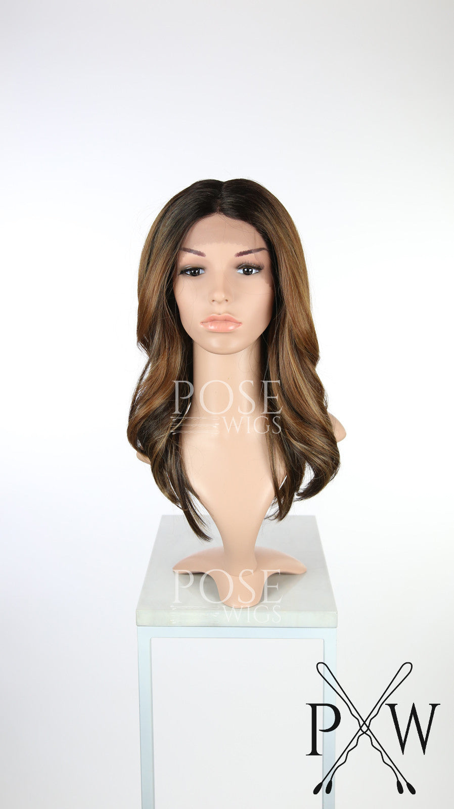Balayage Brown Ombre Long Wavy Lace Front Wig - Lady Series LLSAF70