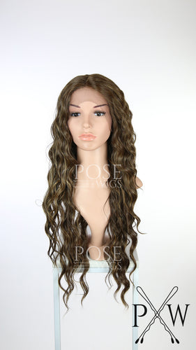 Brown Mix Long Curly Lace Front Wig - Duchess Series LDNIX26
