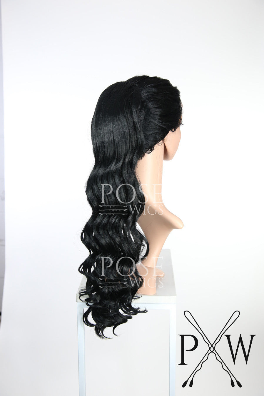 Black Long Curly Ponytail Hairpiece HPTRU1