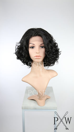 Darkest Brown Short Curly Lace Front Wig - Duchess Series LDECL8