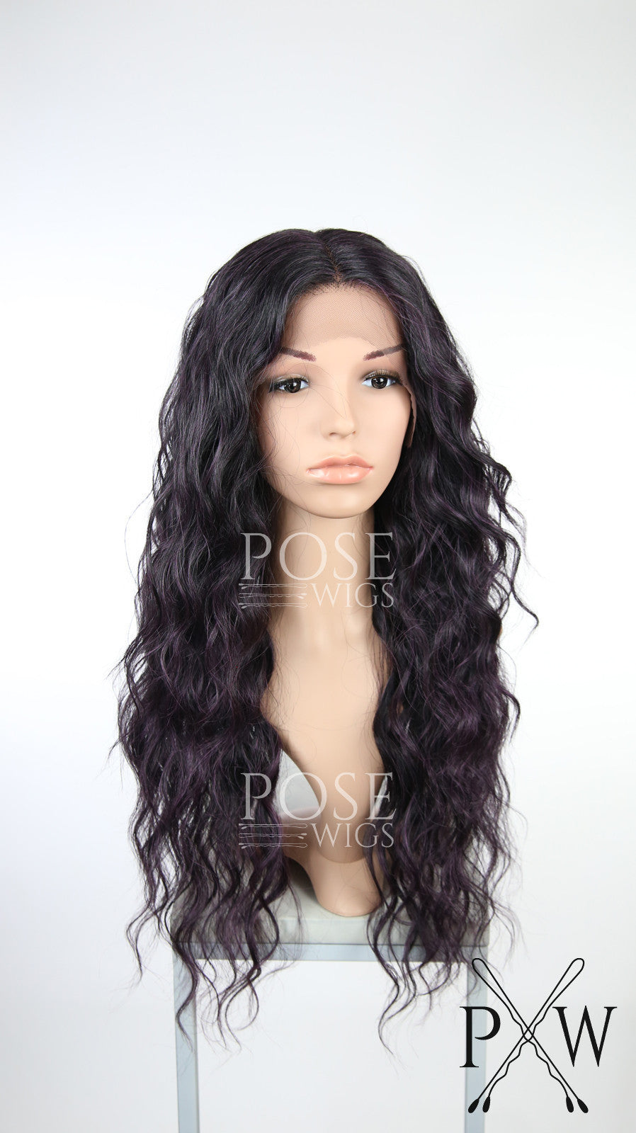 Dark Purple Ombre Long Curly Lace Front Wig - Duchess Series LDRUN234
