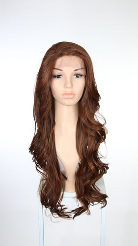 Red Mix Long Wavy Lace Front Wig - Lady Series LLKIM119