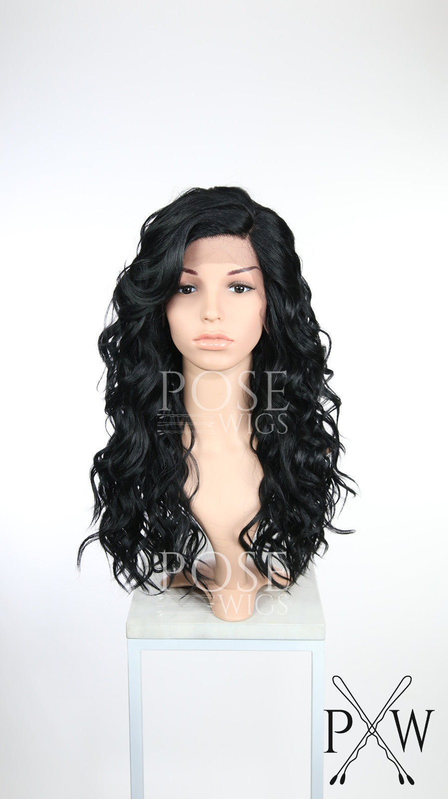 Black Long Curly Lace Front Wig - Duchess Series LDCAL1