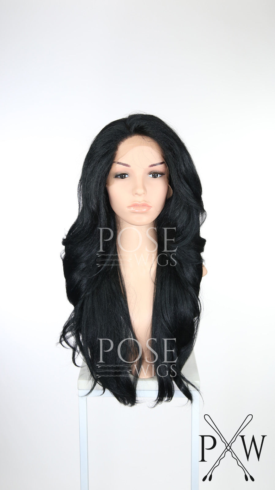 Black Long Wavy Lace Front Wig - Special Full Lace Top Duchess Series LDCAM1