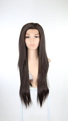 Dark Brown Long Straight Lace Front Wig - Lady Series LLHAW10