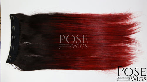Red Ombre Clip-in 22