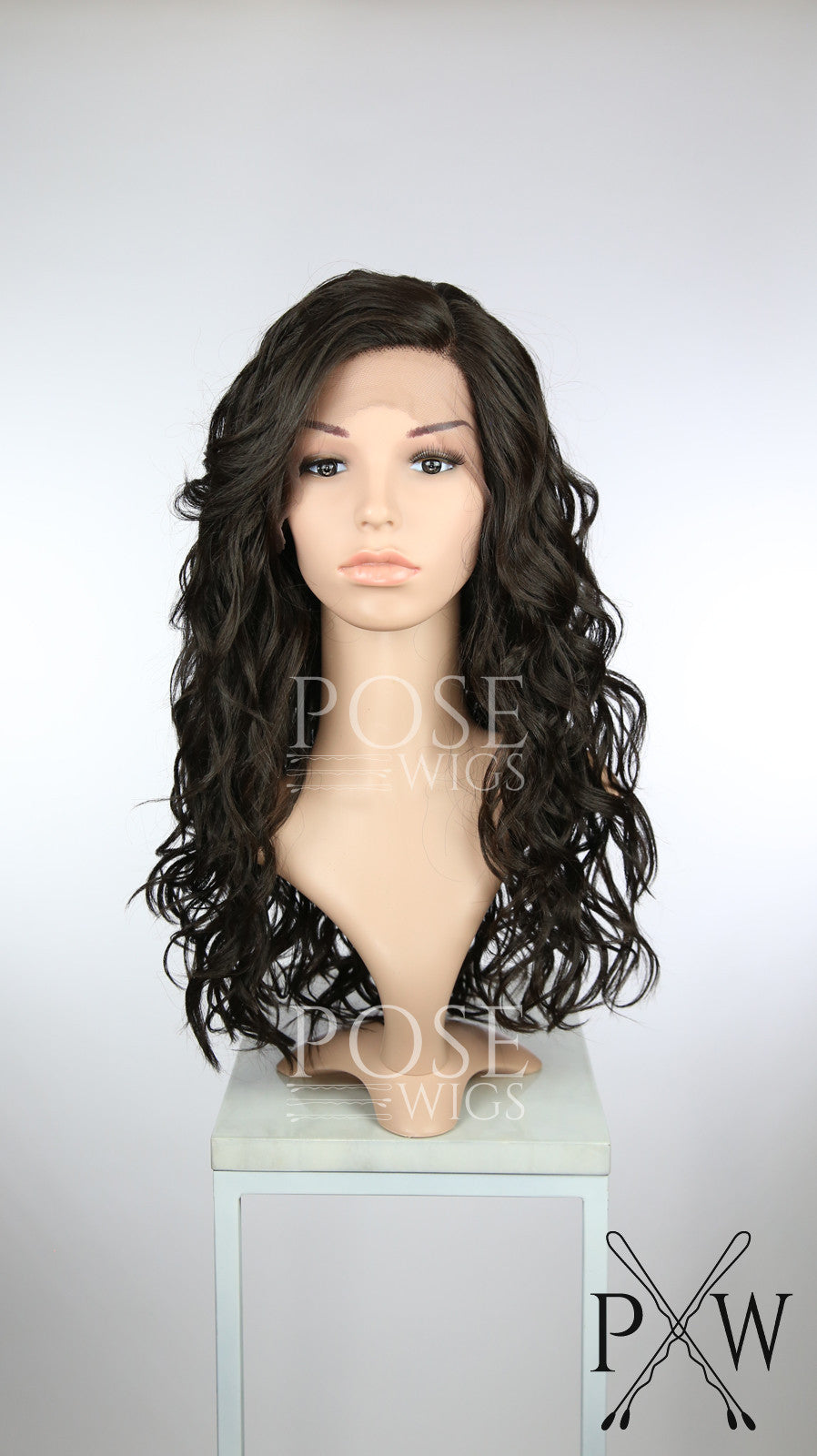 Dark Brown Long Curly Lace Front Wig - Duchess Series LDCAL10