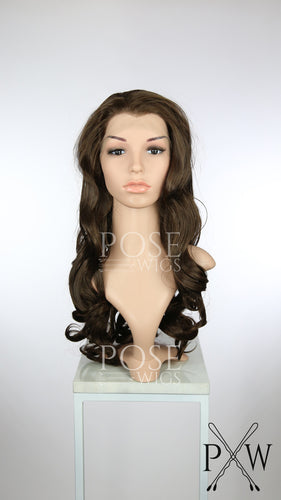 Brown Long Curly Lace Front Wig - Princess Series LP183