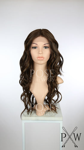 Brown Mix Long Curly Lace Front Wig - Duchess Series LDORN18