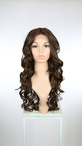 Brown Mix Long Curly Lace Front Wig - Duchess Series LDSAA18