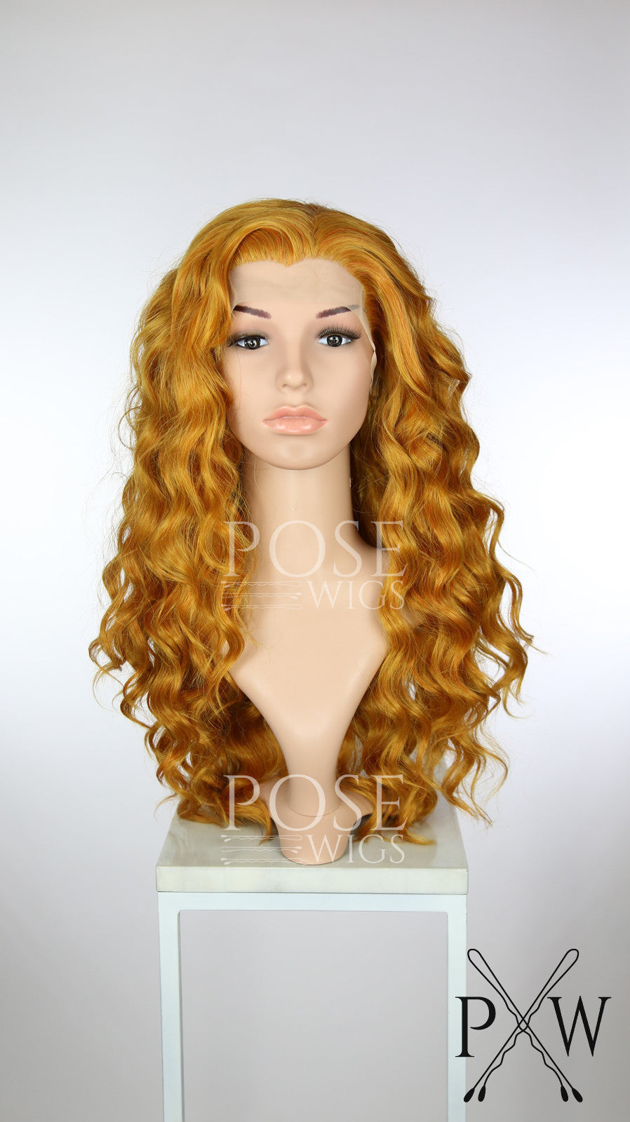 Reddish Gold Long Curly Lace Front Wig - Princess Series LP179