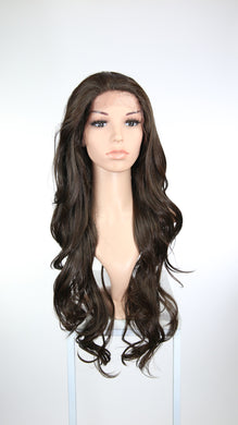 Brown Long Wavy Lace Front Wig - Lady Series LLKIM19