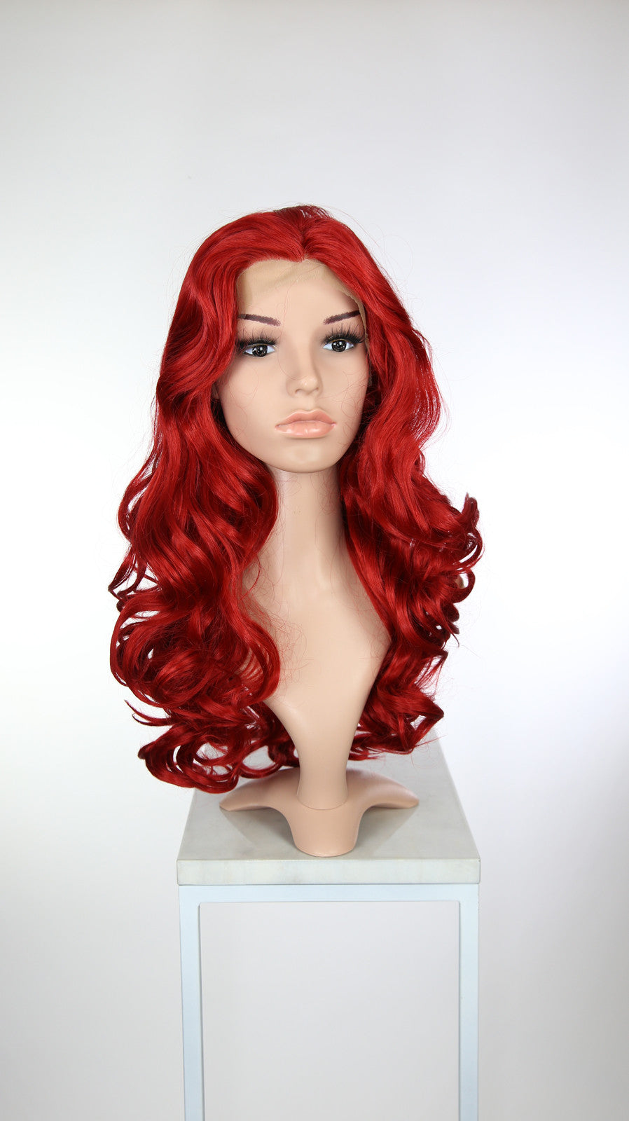 Bright Red Long Curly Lace Front Wig - Princess Series LP037