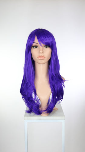 Bright Purple Long Straight with Bangs Fashion Wig HS024