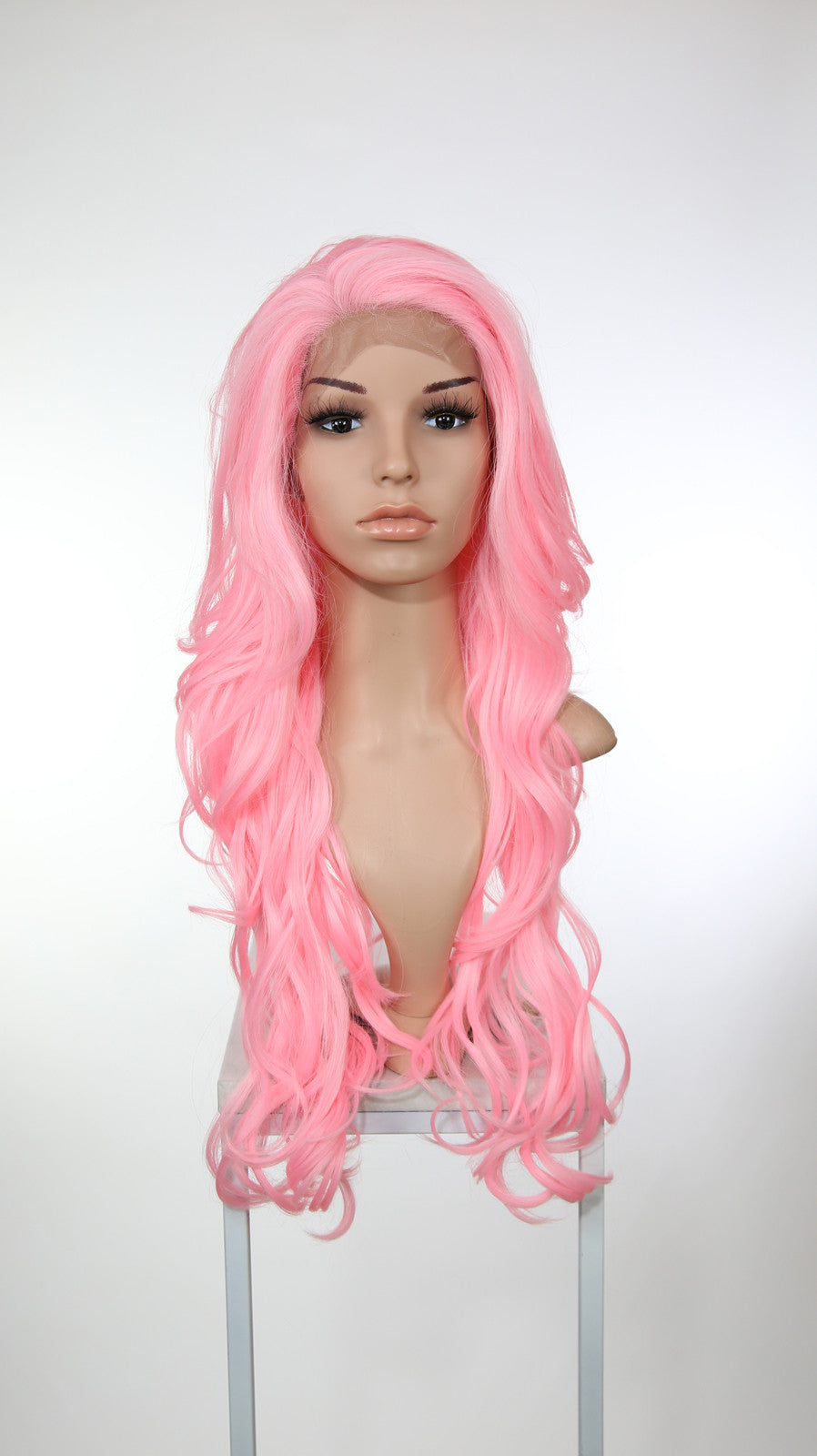 Pink Long Wavy Lace Front Wig - Lady Series LLKIM183