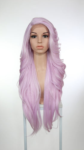 Lilac Purple Long Wavy Lace Front Wig - Lady Series LLPRU168