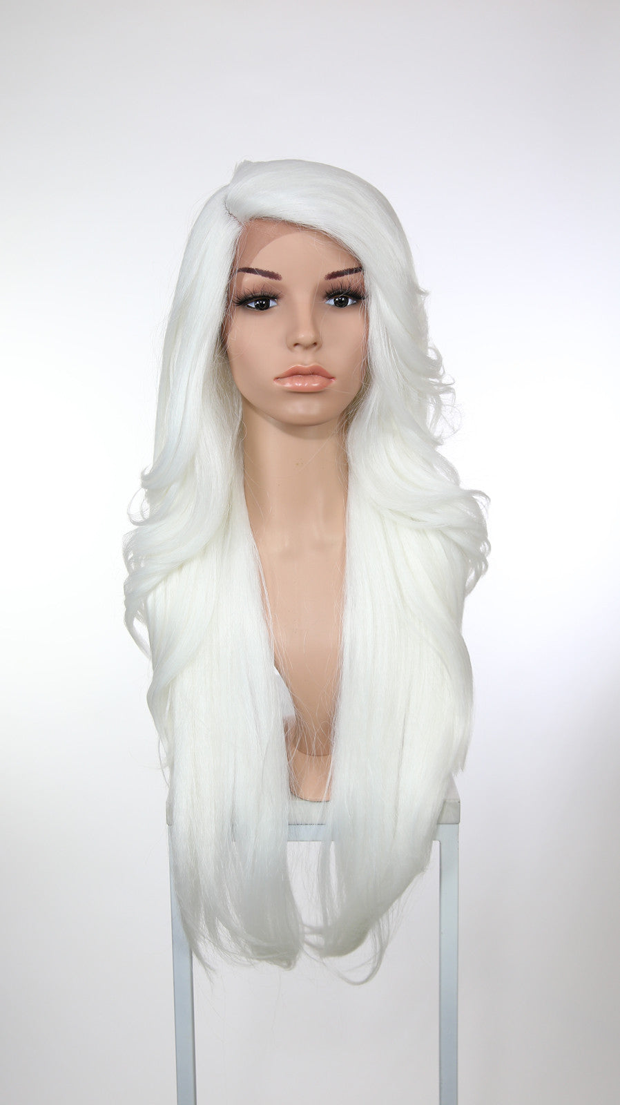 White Long Wavy Lace Front Wig - Lady Series LLPRU69