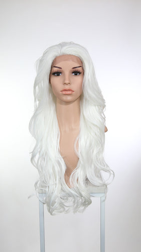 White Long Wavy Lace Front Wig - Lady Series LLKIM69