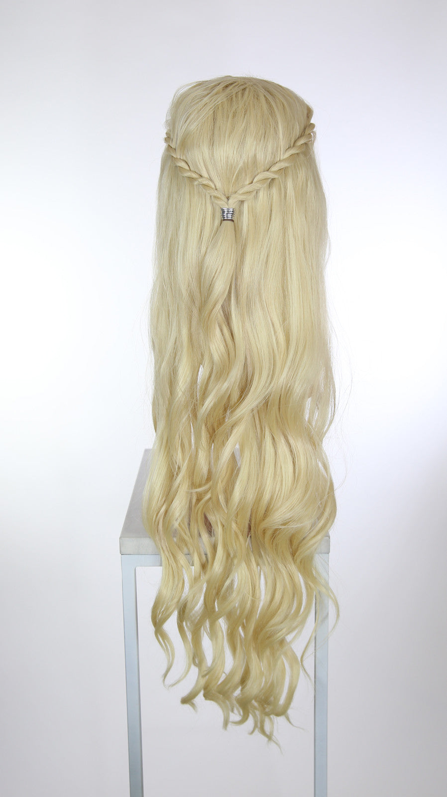 Blonde Custom Braided Long Curly Lace Front Wig - Two Rope Braids - Lady Series
