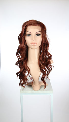 Red Long Wavy Lace Front Wig - Lady Series LLYVO52