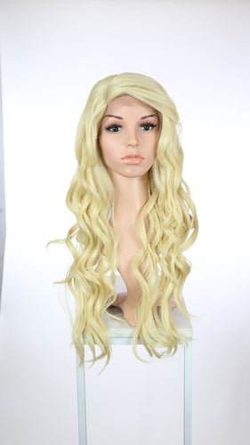 Blonde Long Curly with Bangs Lace Front Wig - Lady Series LLLAU44