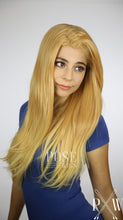 Peachy Blonde Ombre Long Curly Lace Front Wig - Princess Series LP097