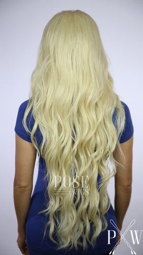 Blonde Long Curly Lace Front Wig - Duchess Series LDMON44