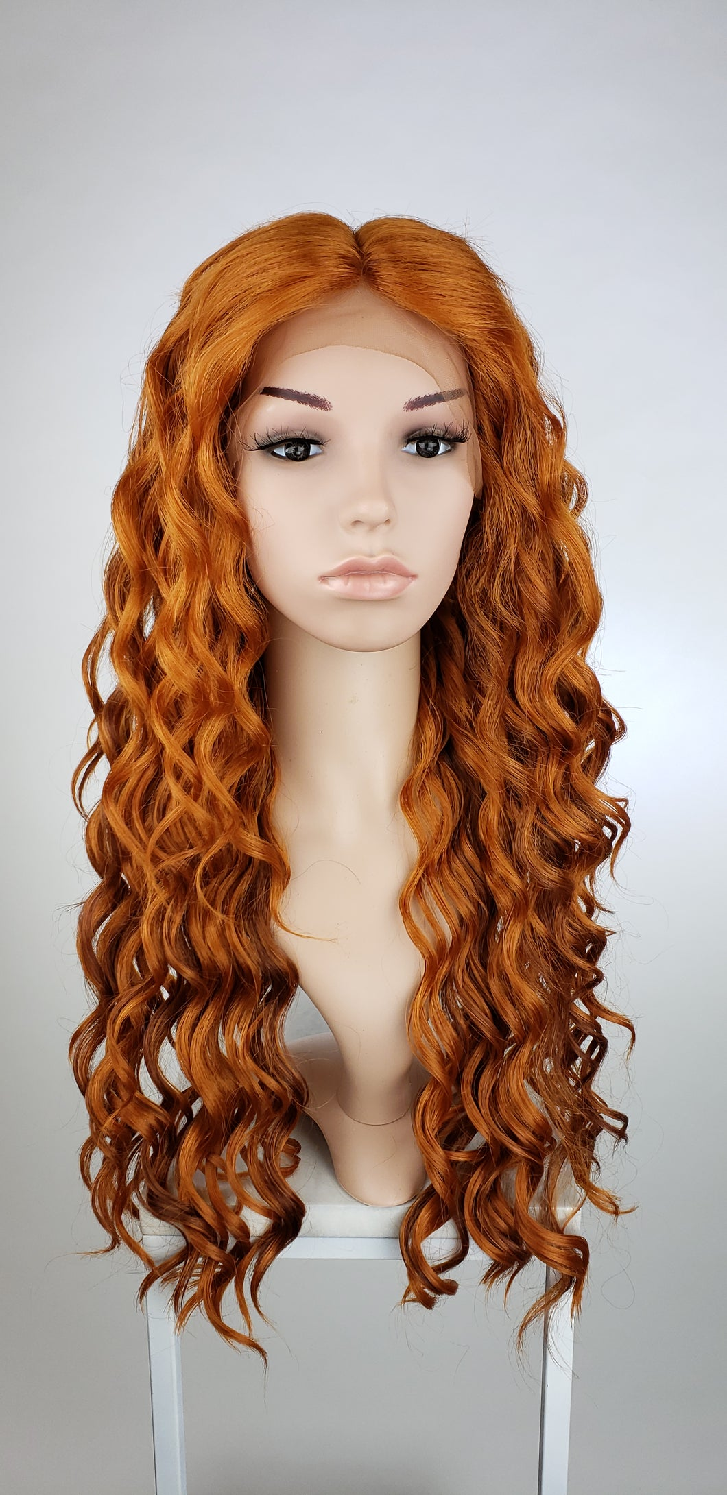 Copper Red Mix Long Curly Lace Front Wig - Duchess Series LDCEL66